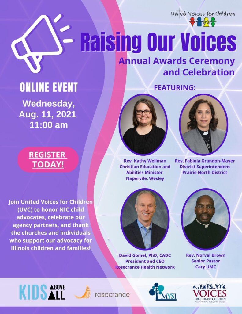 Raising our Voices flyer